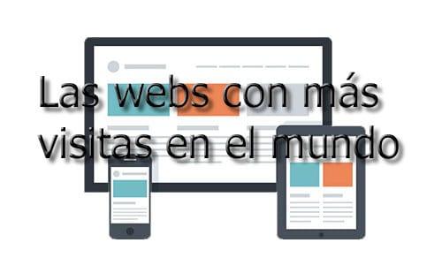 Las páginas web con más visitas en el mundo